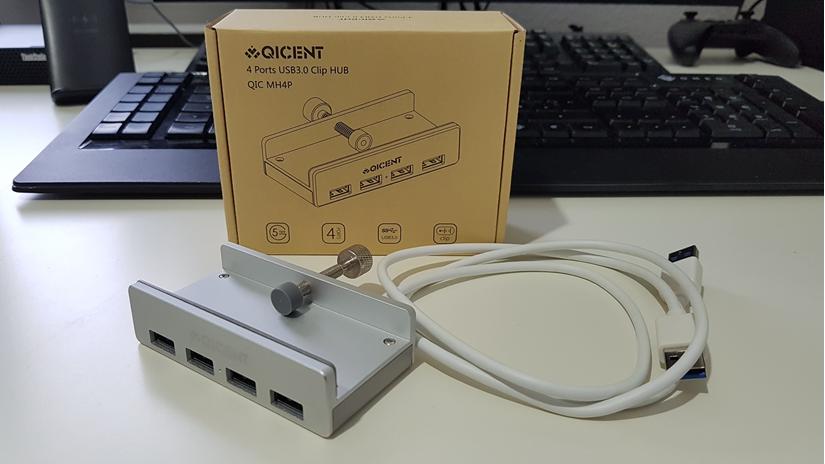 4-fach USB 3.0 Klemm-Hub