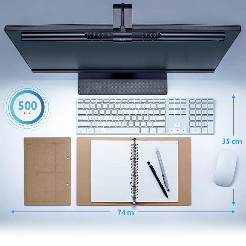 BenQ ScreenBar: Blendfreie LED Lampe für Monitore – rosenblut